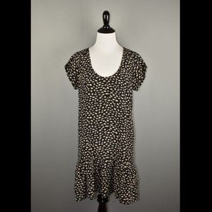 Joie Cheetah Print Silk Ruffle Shift Dress